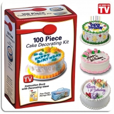 Набор для украшения тортов  100 PIECE CAKE DECORATION KIT title=